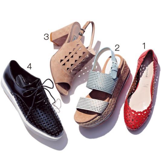 おしゃれな人がこの春最初に履きたい靴【透けるパンプス&カットワーク】_3