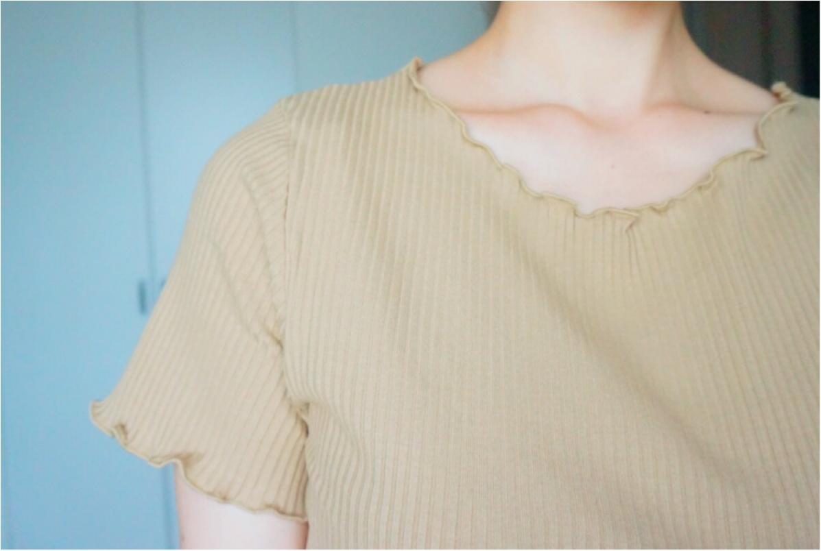 【Q♡code】UNIQLO《リブクルーネックT》×GU《デニムフロントボタンスカート》でプチプラコーデ❤️_7