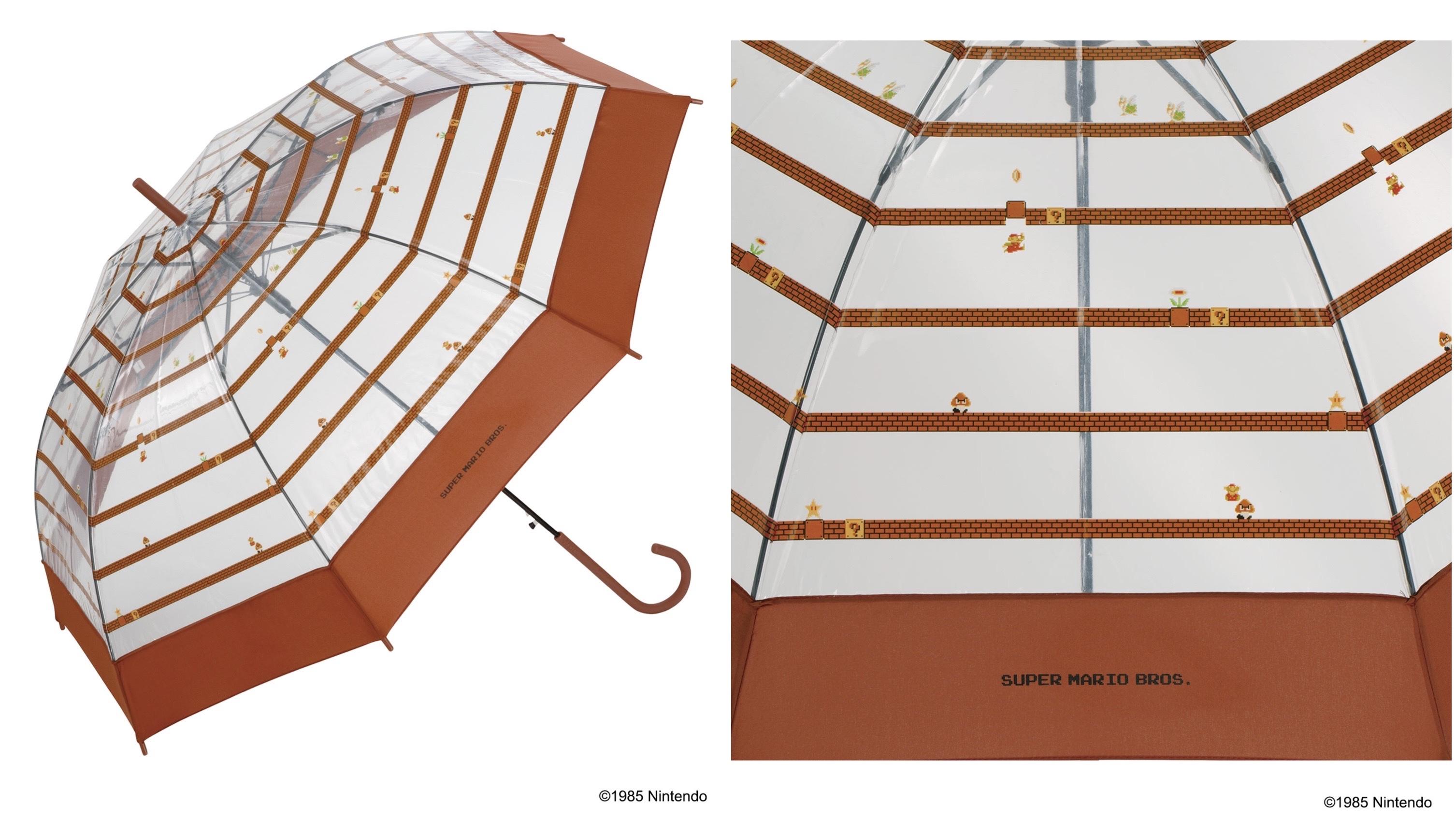 Wpc.のスーパーマリオブラザーズデザインビニール傘のブロックボーダー柄