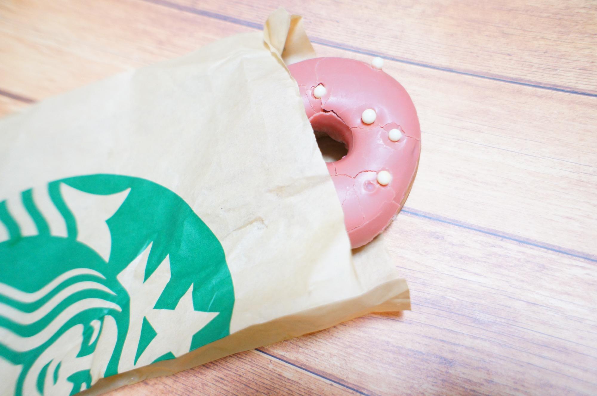 《レジ横foodに注目❤️》【スタバ】ベリーソースドーナツが美味しい☻!_1