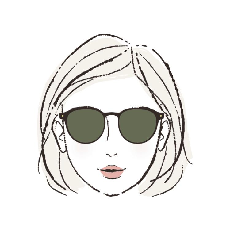 顔の形別・似合うサングラス☆あなたは丸型?四角型?『JINS』広報担当が指南します!_2