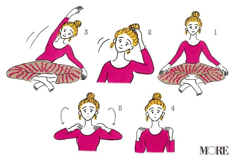 あぐらをかいた状態でマインドフルネスを実践する女性のイラスト