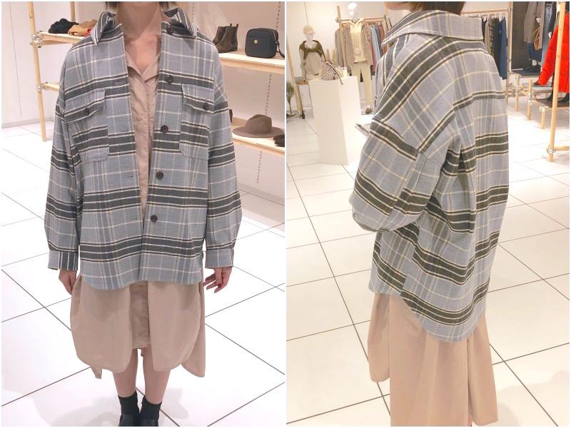 『GU』2019秋冬展示会でアウター祭☆ シャツジャケット、チェック柄、もこもこも全部着てみました!_5