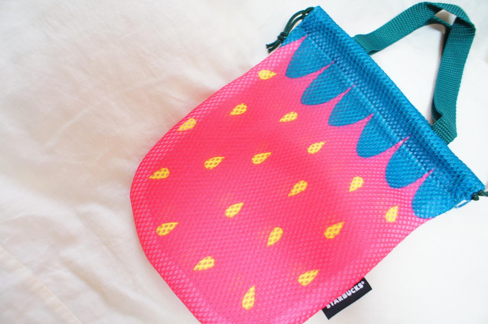 《数量限定❤️》【スタバ】対象フードをふたご買いすると買えるいちごバッグが可愛い☻_2