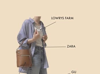 【ZARA】ストライプシャツ着回しコーデ