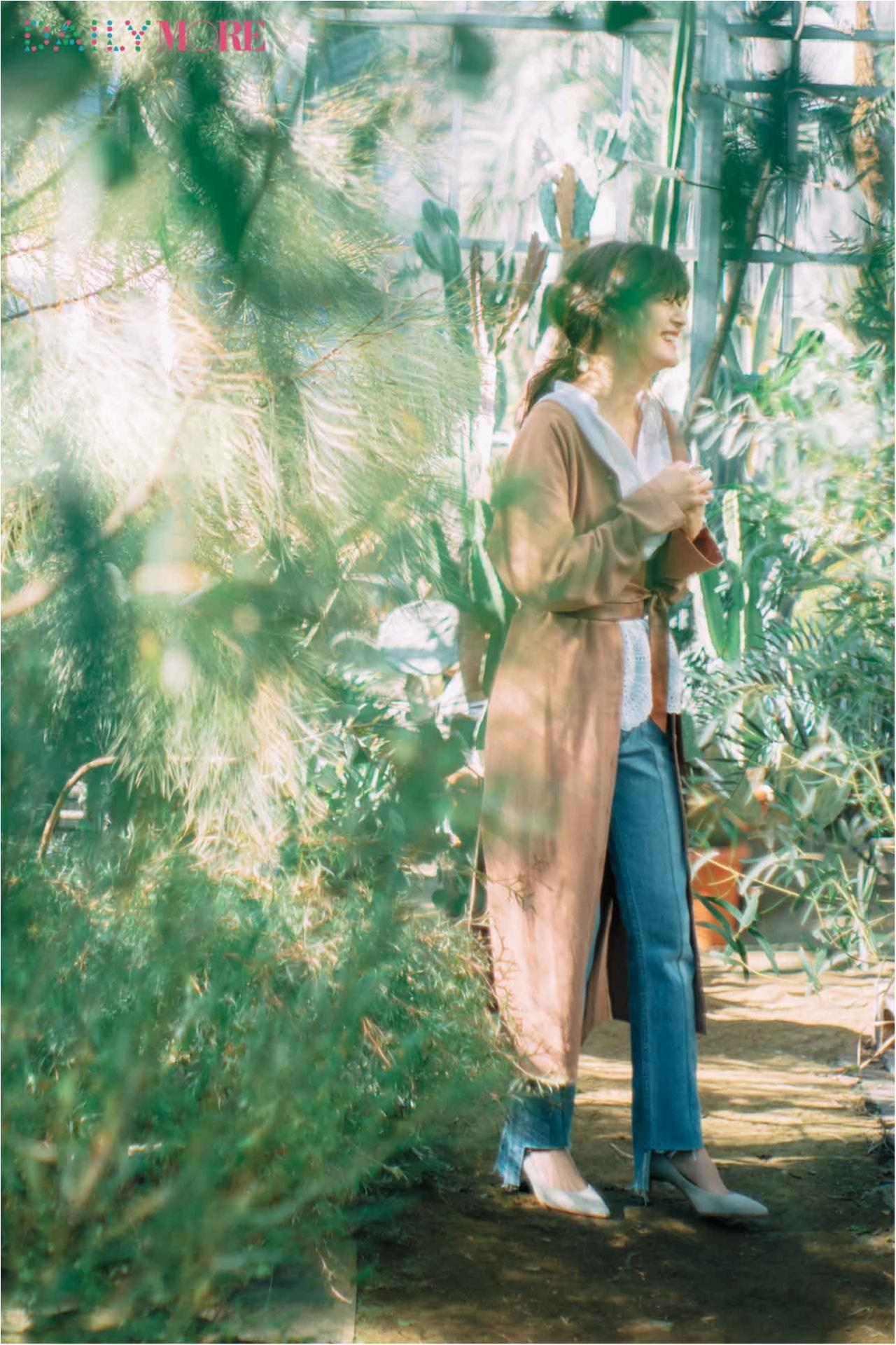 【今日のコーデ/佐藤ありさ】お散歩日和の土曜日は白シャツ×デニムをちょっぴり春らしく更新♪_1