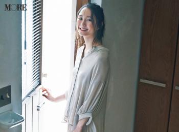 【今日のコーデ】<鈴木友菜>肌ざわりのいいゆったりセットアップでおうち時間を満喫♪