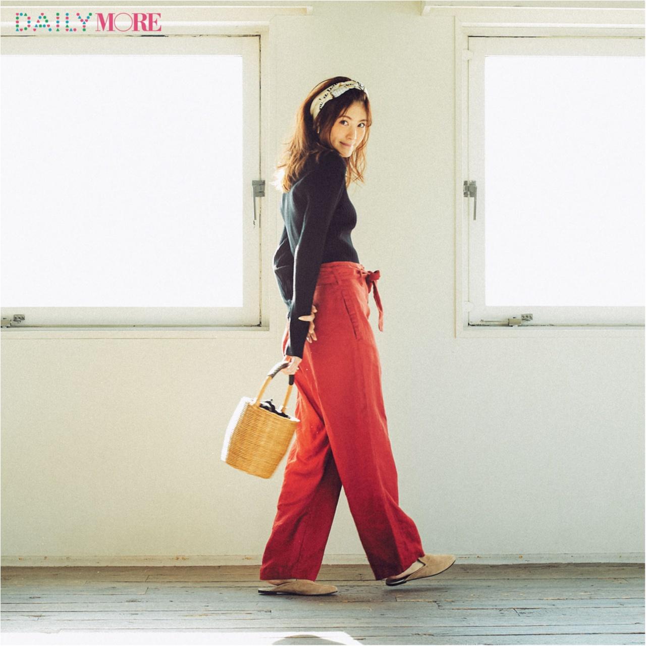 【今日のコーデ/佐藤ありさ】きれいな色のパンツがはきたい木曜日。_1
