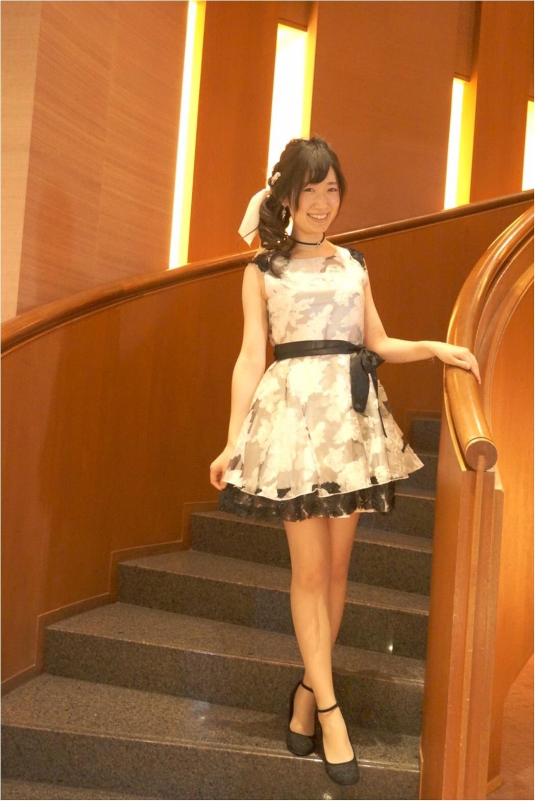 【プチプラ✨PARTYコーデ】¥3,780の花柄オーガンジードレス♡≪samenyan≫_1
