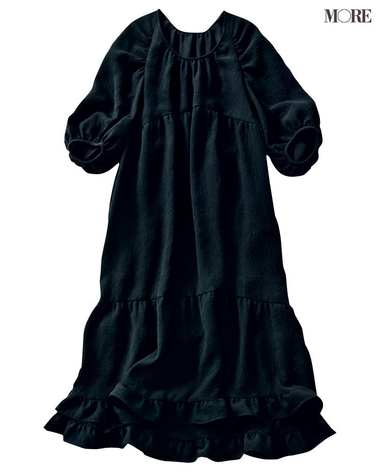 着まわせる黒いワンピース