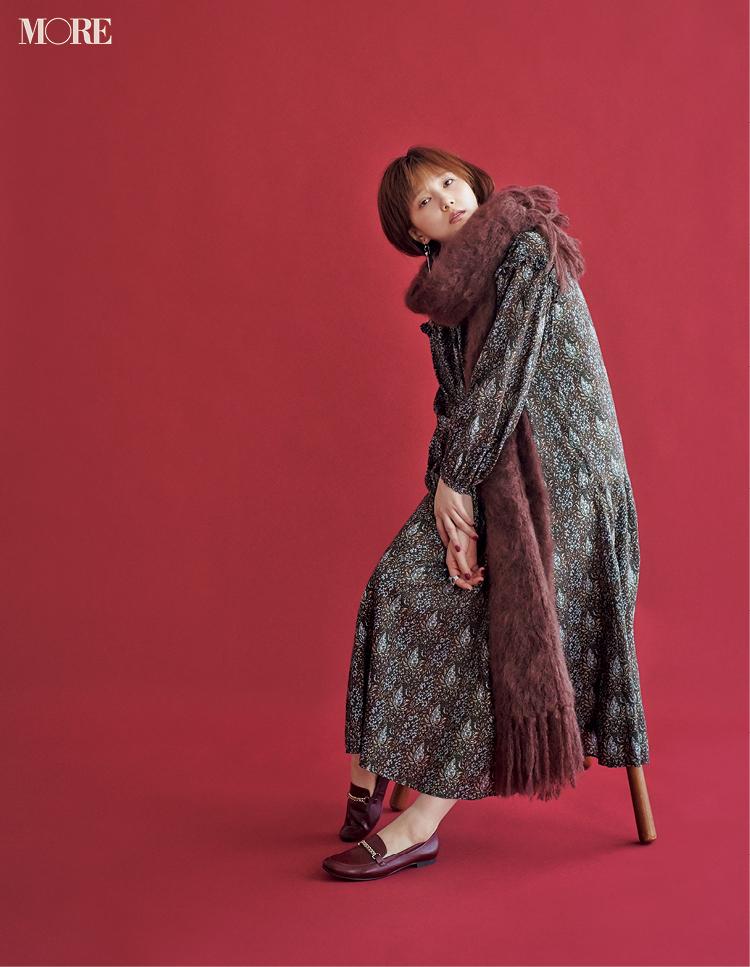 """本田翼が秋の""""週3アイテム""""で魅せます! 茶系のジャケットとワンピース、たとえばこんな着こなしで♡_4"""