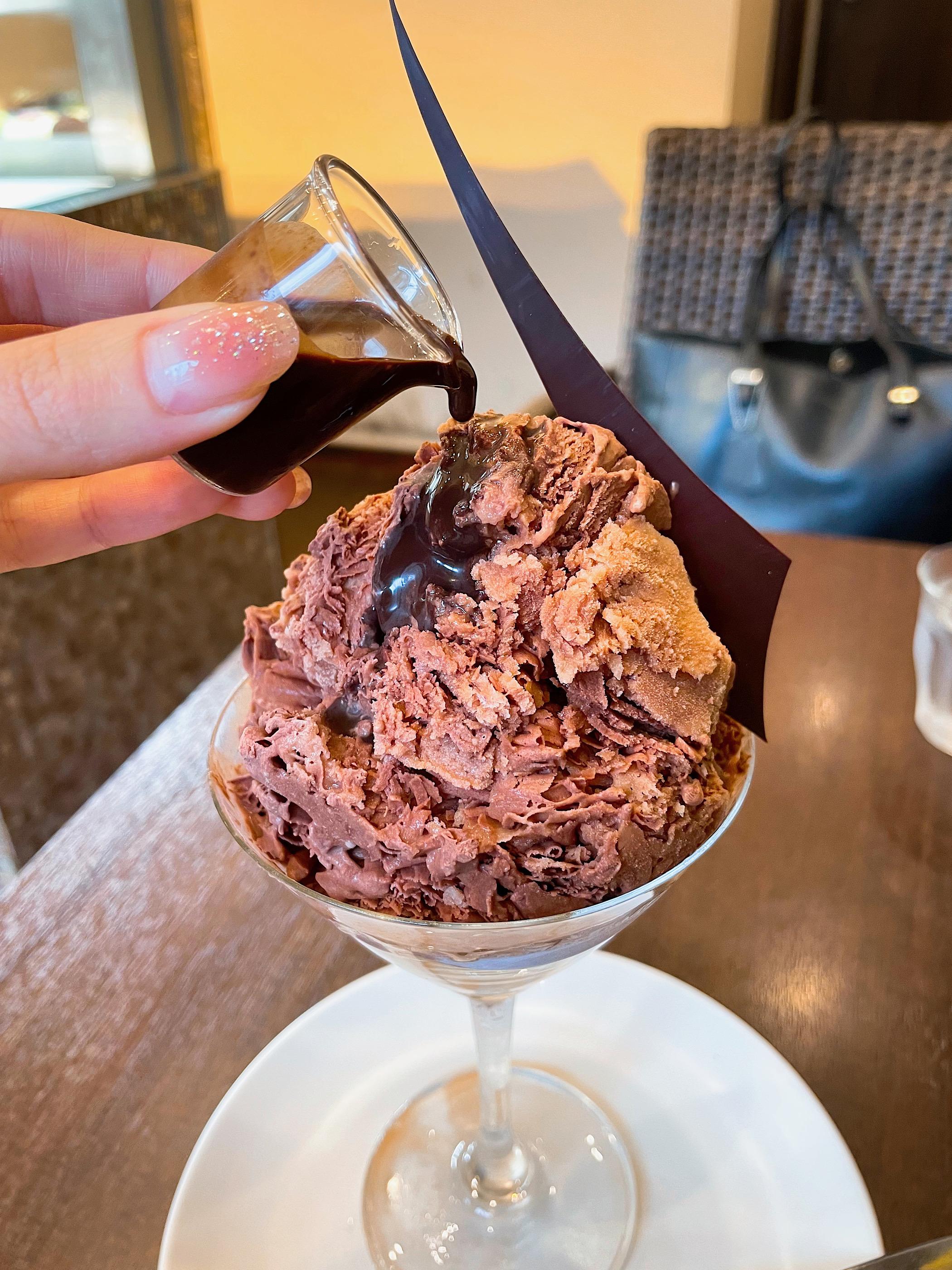 吉祥寺のチョコレート店「プレスキルショコラトリー」のグラニテ・ショコラ