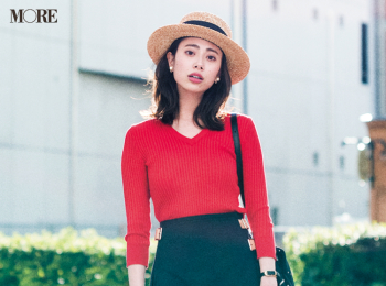 【今日のコーデ】<土屋巴瑞季>気分を上げたい休日はパッと目を引く赤い服でフレンチシック上級者に