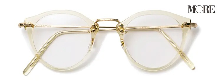 アイヴァンのクリアフレームメガネ