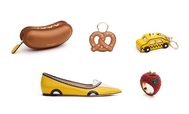 ケイトスペードの新作コレクション、ホットドックやリンゴ型のポーチ、リング、シューズなど