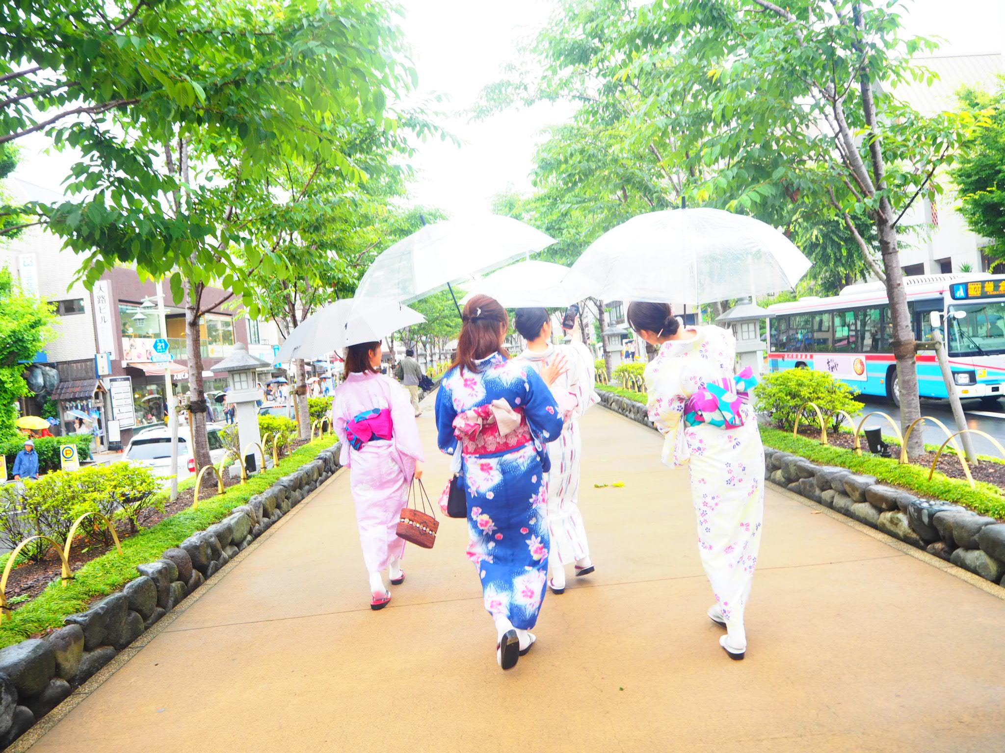 夏着物で鎌倉女子旅♡  紫陽花がとっても綺麗でした♡_2