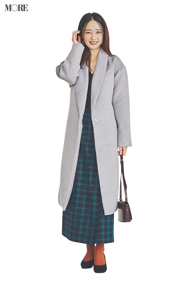 【今日のコーデ】<逢沢りな>打ち合わせ三昧の月曜日はチェック柄スカートで理想のグッドガールに_1