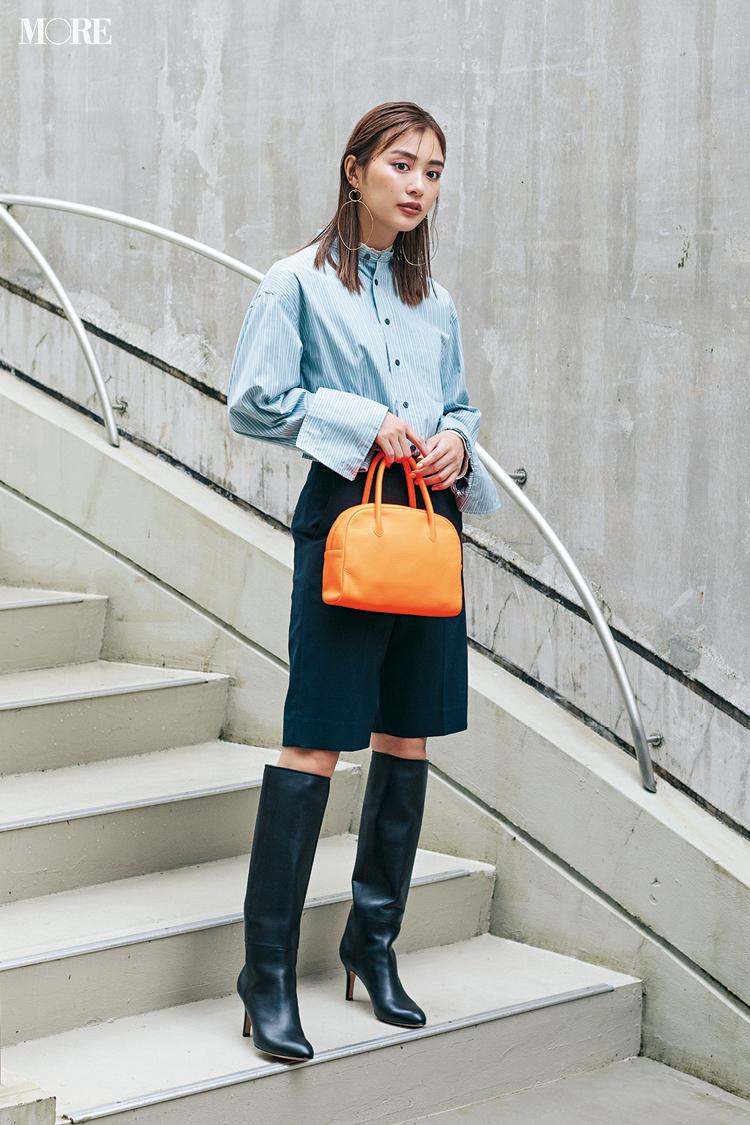 【今日のコーデ】<内田理央>気分を変えたい日はショートパンツ+ロングブーツで新鮮バランスに!_1