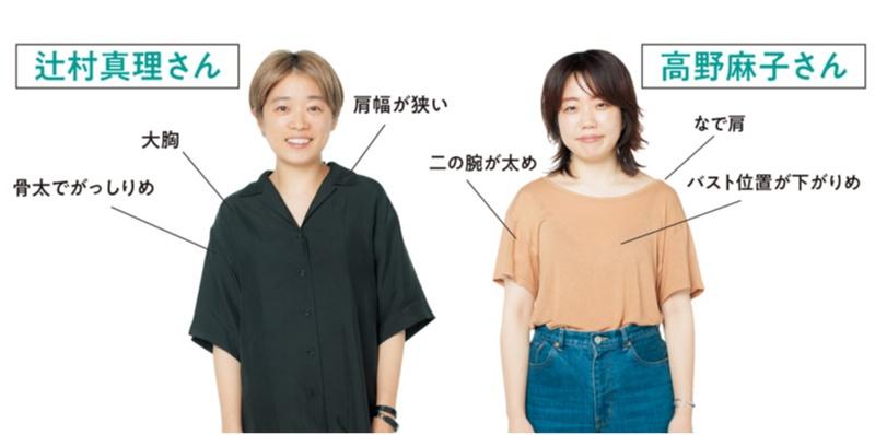 体型別,Tシャツ,試着,着やせ,やせ見え,白T