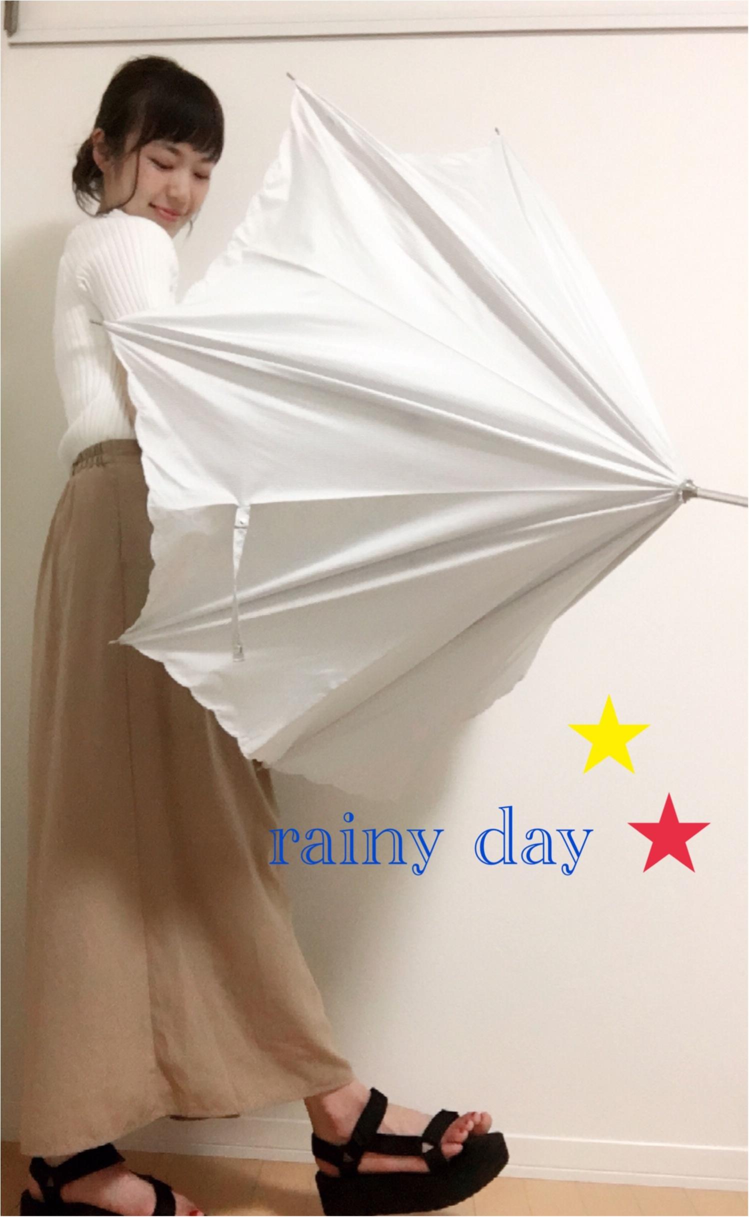 ★夕方は雨が止む?!わからない日の雨の日コーデ☺︎_1