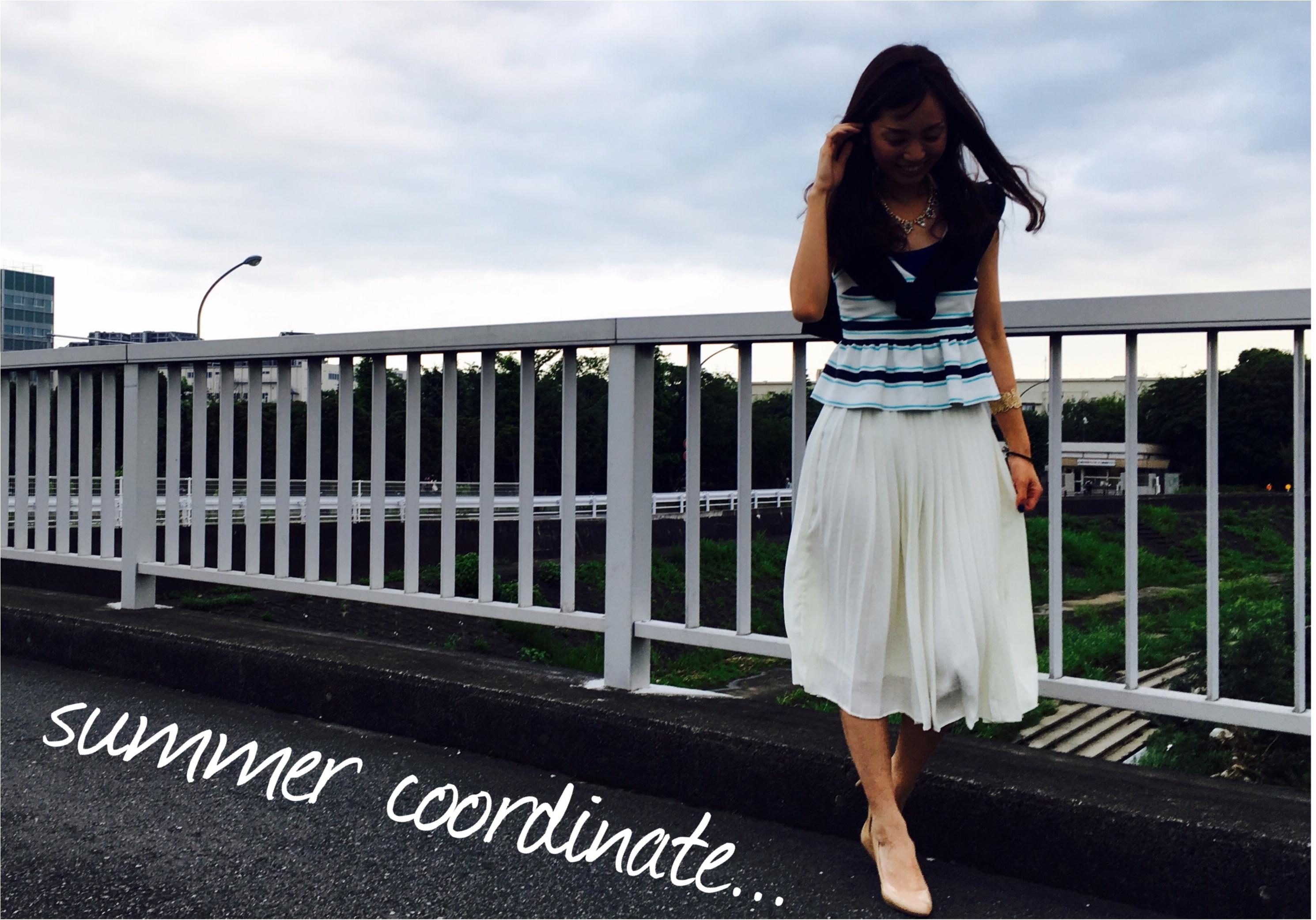 ▶▶<ZARA>の夏色ボーダービスチェでSUMMERコーデ【はるな】_1
