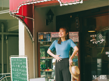 「旅先でのランチは、大好きな純喫茶に限る!」内田理央主演・毎日連載『ミスブラウンの愛され着回し』11日目