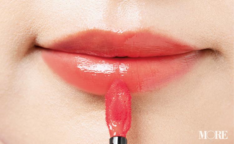 『イヴ・サンローラン』『THREE』などお仕事メイクにおすすめの「ピンク系リップ」5選を、全部お試し!_13