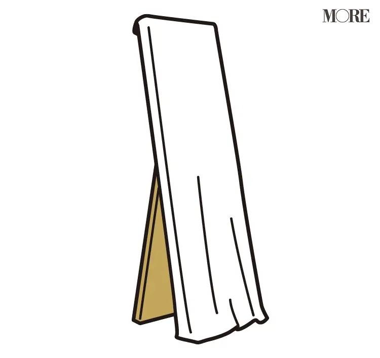 風水の開運掃除法で布をかけた鏡