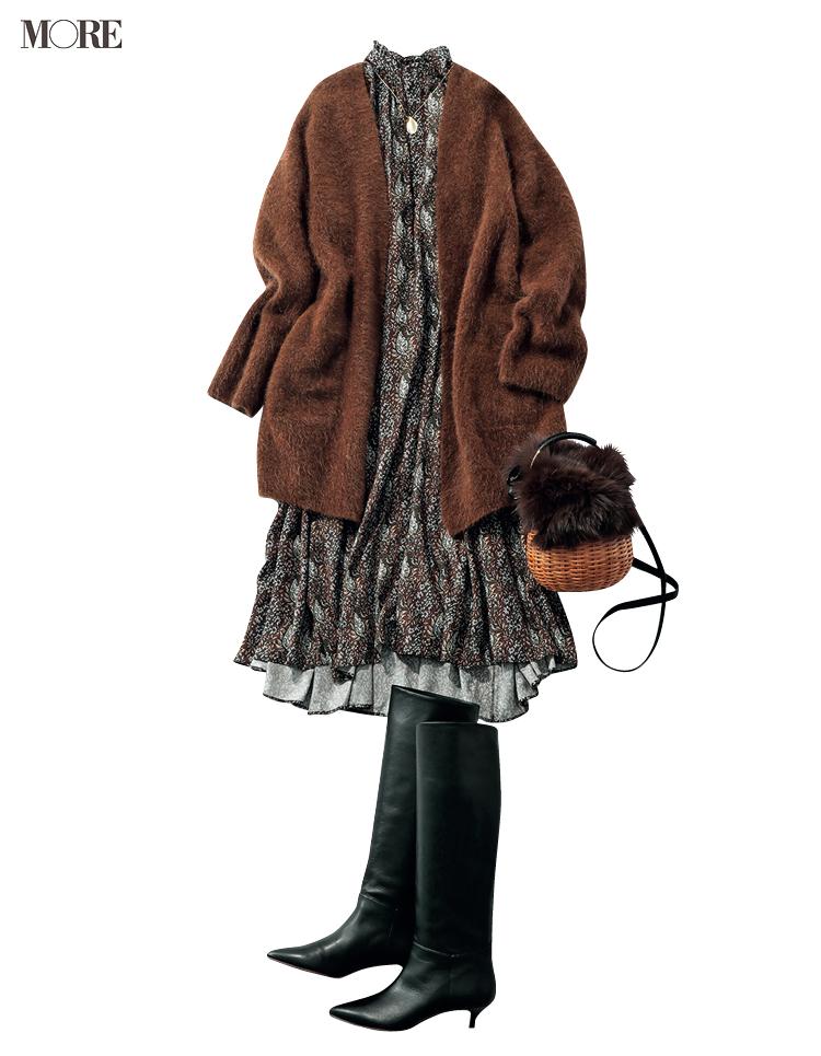 """本田翼が秋の""""週3アイテム""""で魅せます! 茶系のジャケットとワンピース、たとえばこんな着こなしで♡_5"""