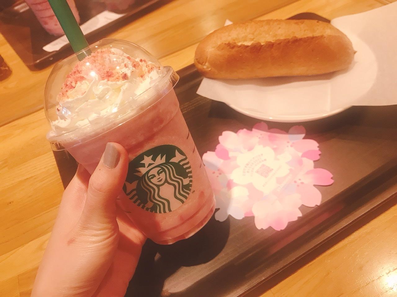 【スタバのさくら第2段】ピンクが可愛い♡ さくら咲いた ベリー フラペチーノ✿✿✿_1