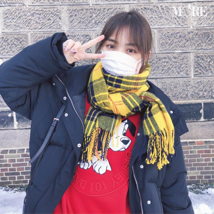 内田理央がこの冬ヘビロテ中なのは、黄色のマフラー♡【モデルのオフショット:お気に入りのファッションアイテム編】_1