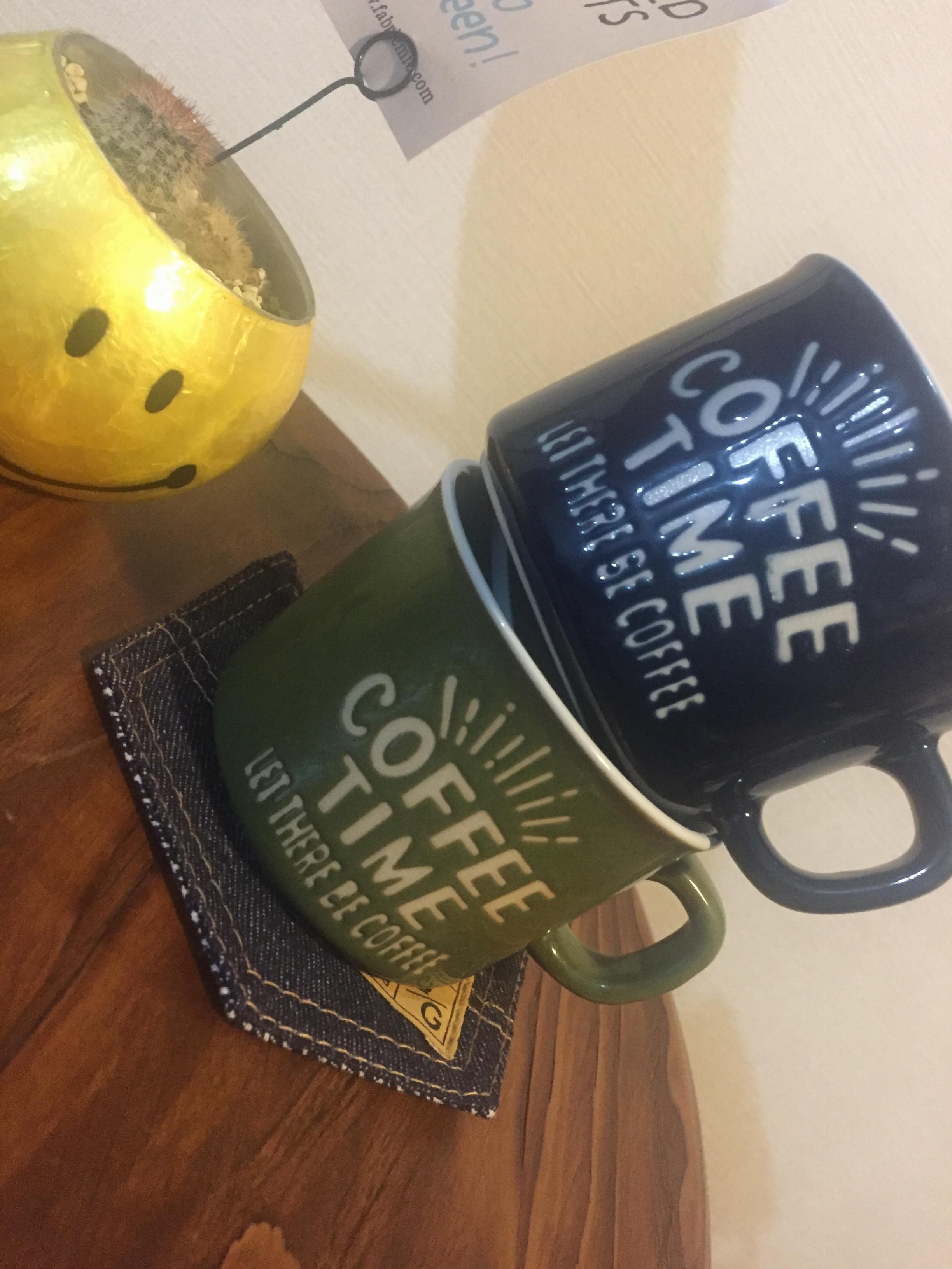 お家のコーヒータイムをもっとお洒落に...❤︎こちらの『カフェ風マグカップ』をなんと『100円ショップ』で購入してきました!_1