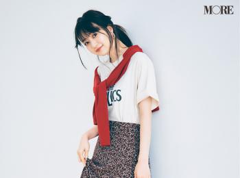 【今日のコーデ】<逢沢りな>甘いスカートをTシャツ&サンダルでハズして夏のイチ押しMIXコーデ♡