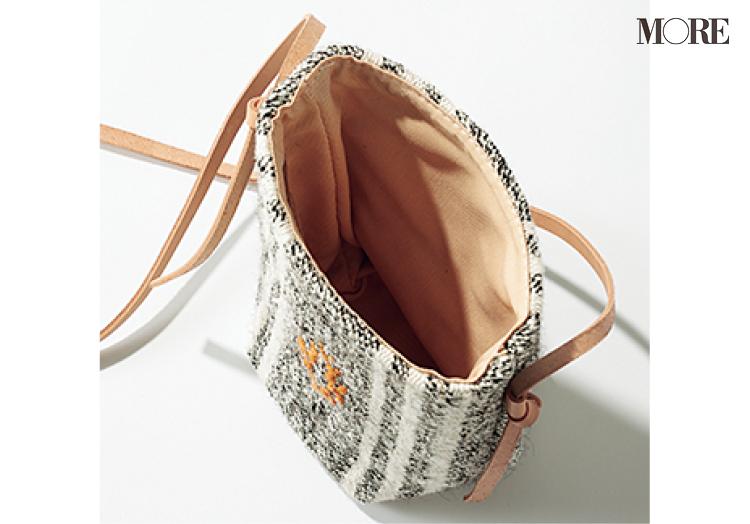 コンパクトに見えて中身がいっぱい入るバッグ