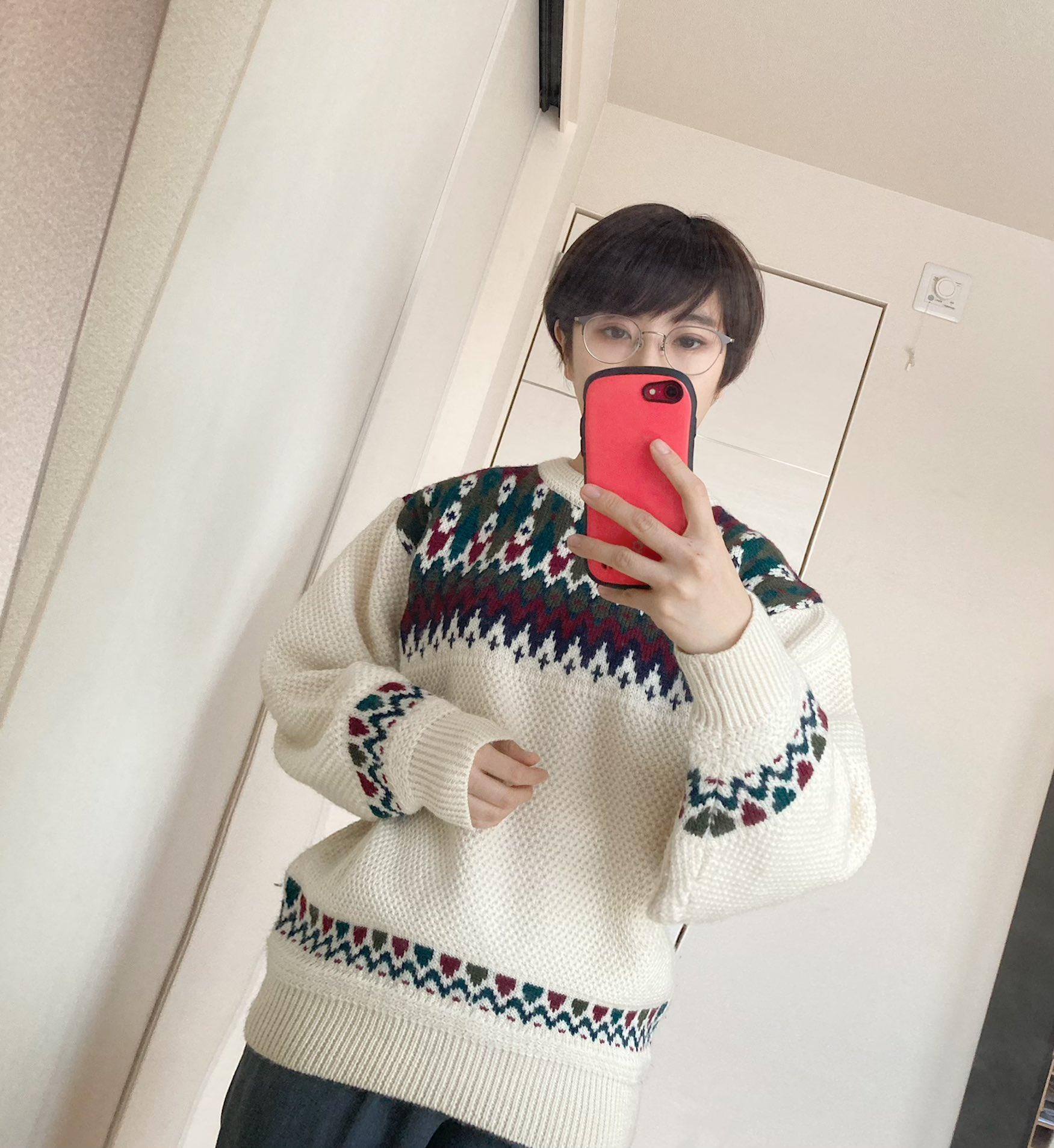 【vintage購入品】冬といえばニットの季節_1