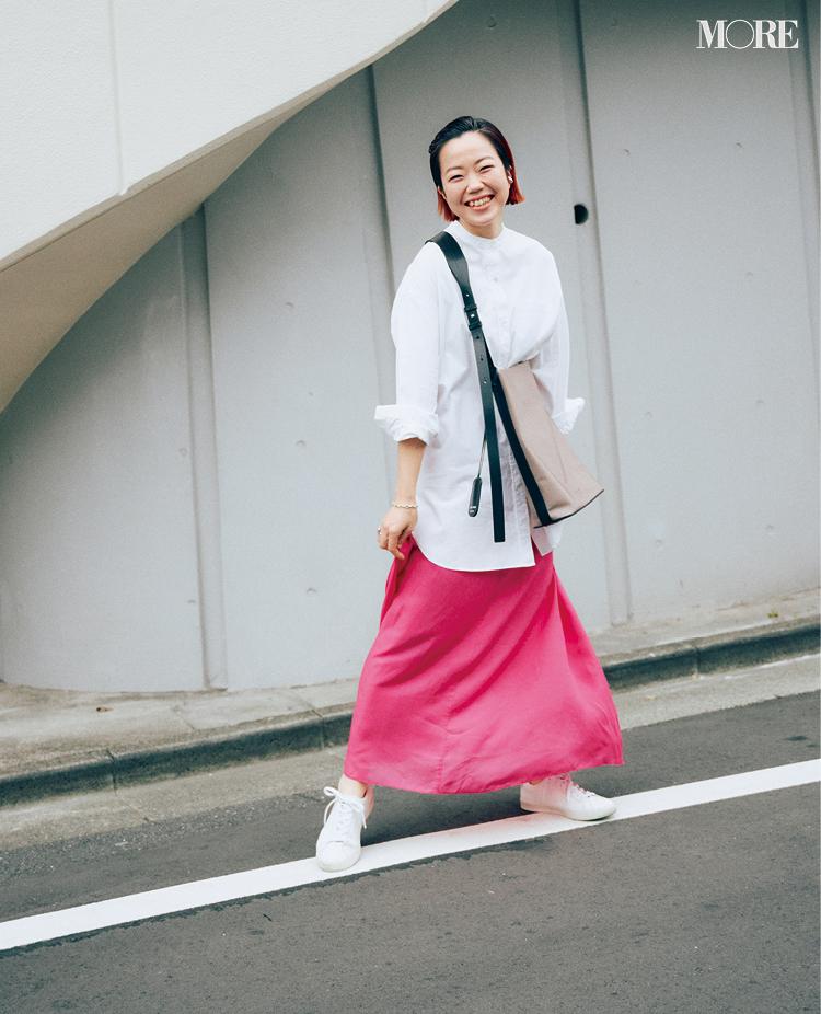 ロング丈同士を合わせたスタイリスト高野麻子さんの私服コーデ