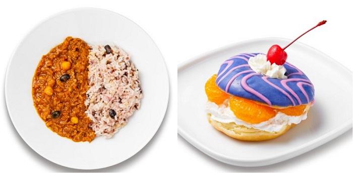 「IKEA 渋谷  スウェーデンレストラン」限定メニュー・「プラントベース キーマカレー」と「ドーナツフルーツサンド」