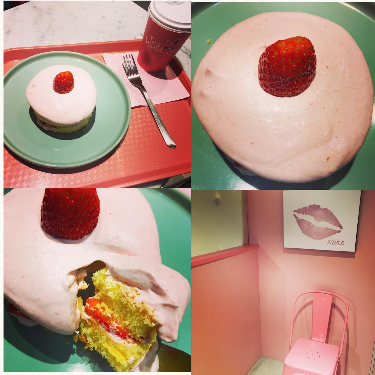 """ピンク尽くしのキュートなカフェ""""Tea Stand 7""""へ乙女のクリスマスケーキ食べに行ってきました!♡_4"""