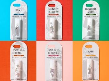 大人気マンガ『ONE PIECE』のリップクリームを全種類集めたい!! キャラクターごとに異なる香りにもうっとり♡