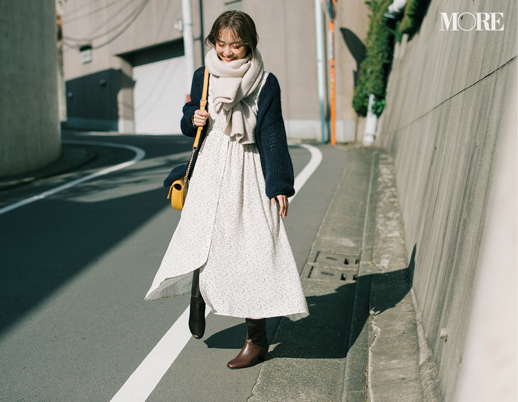 """""""何かある日""""に着たい♡ やっぱり特別な「淡色の花柄ワンピース」を2月に着こなすには?_2"""