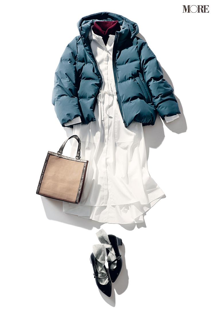 トレンドのアニマル柄のバッグはシンプルなコーデに合わせる