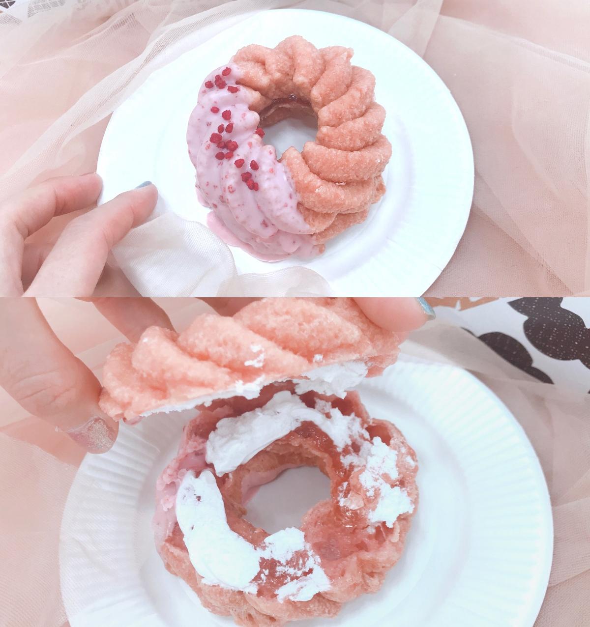 【ミスド 新作】「桜が咲くドドーナツシリーズ」6品を食べてみた♡ お花見のおやつにもおすすめ! _7