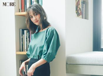 【今日のコーデ】<鈴木友菜>夜はデートの約束♡黒のクロシェ編みタイトスカートでフェミニンに