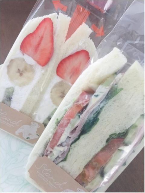 【シロクマベーカリー】のフルーツサンド、ハム野菜サンドをいただきました♡_1