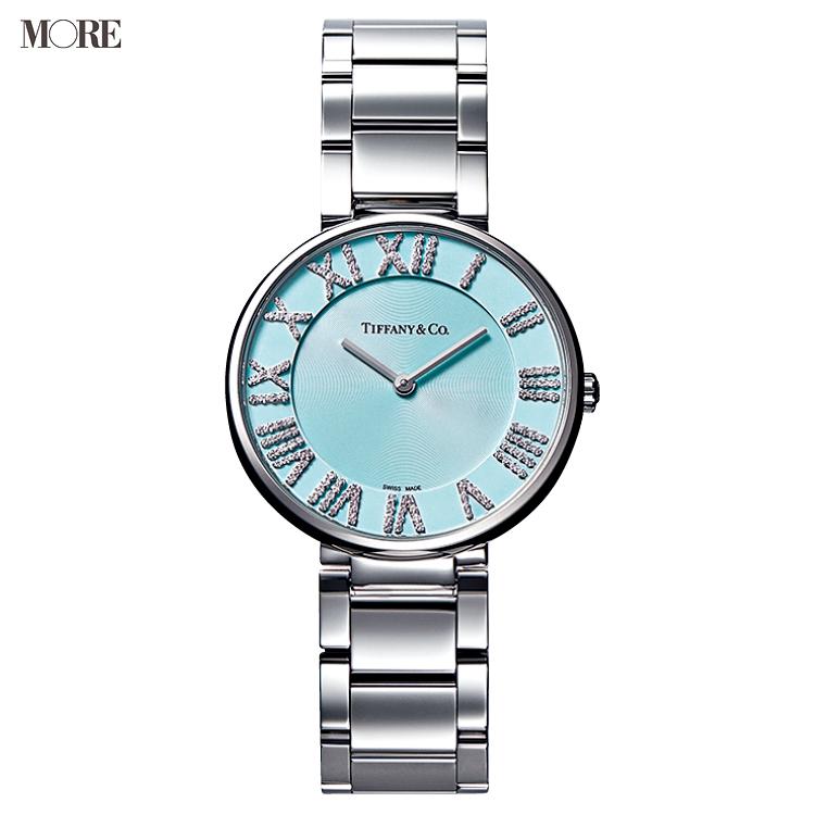 ティファニーブルーの文字盤が特徴の腕時計ティファニーアトラス