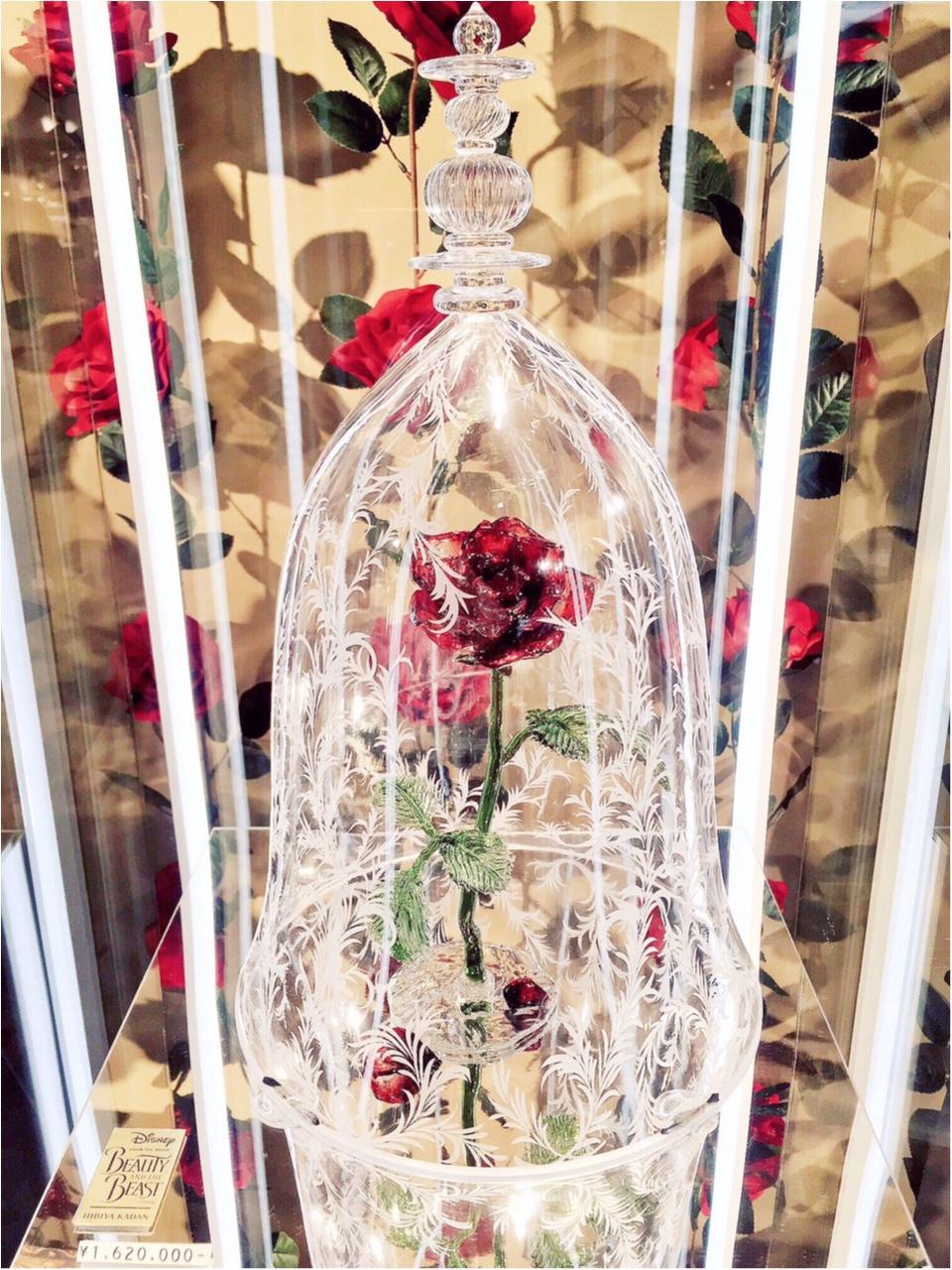 『美女と野獣』と伊勢丹展に行ってきました♡なんと、お値段◯◯◯万円のガラス製ローズドームの販売も…!_8