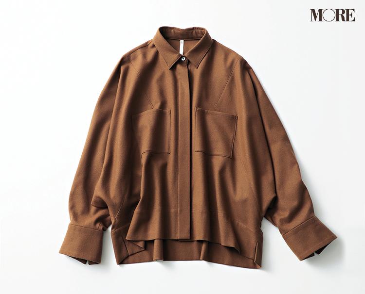 本田翼が秋トレンドの大本命・ブラウンのシャツジャケットを着てみたら……?_4