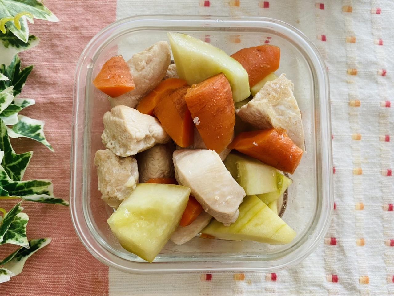 鶏肉と白瓜と人参の煮物