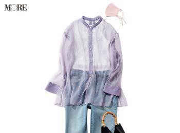 『GU』の3990円以下シアーシャツ&デニムで仕事を頑張る日! デートに期待膨らむ着回し21日目
