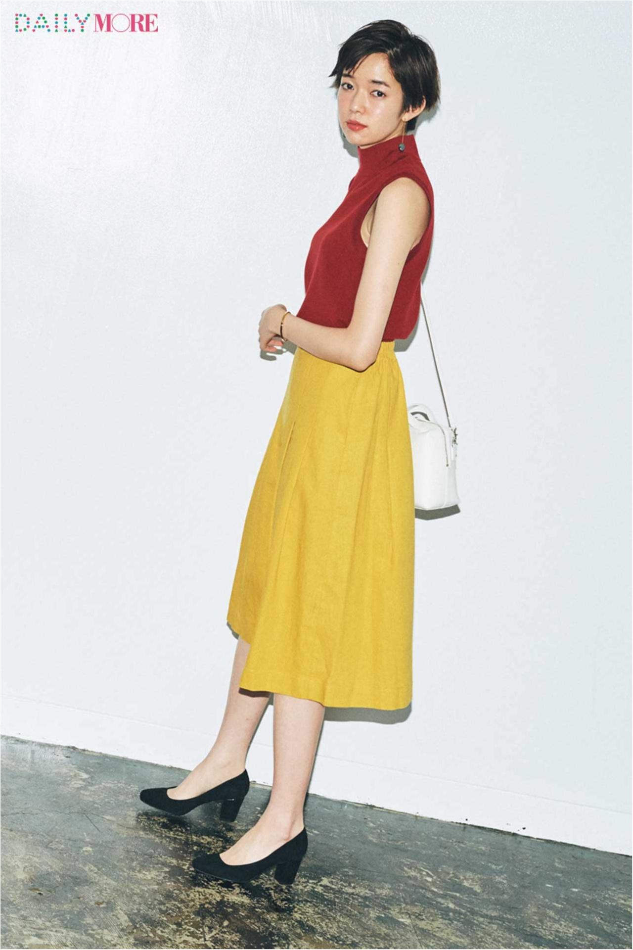 【今日のコーデ/佐藤栞里】カラーonカラーのきれいめスカートコーデで仕事モードに切り替えて。_1